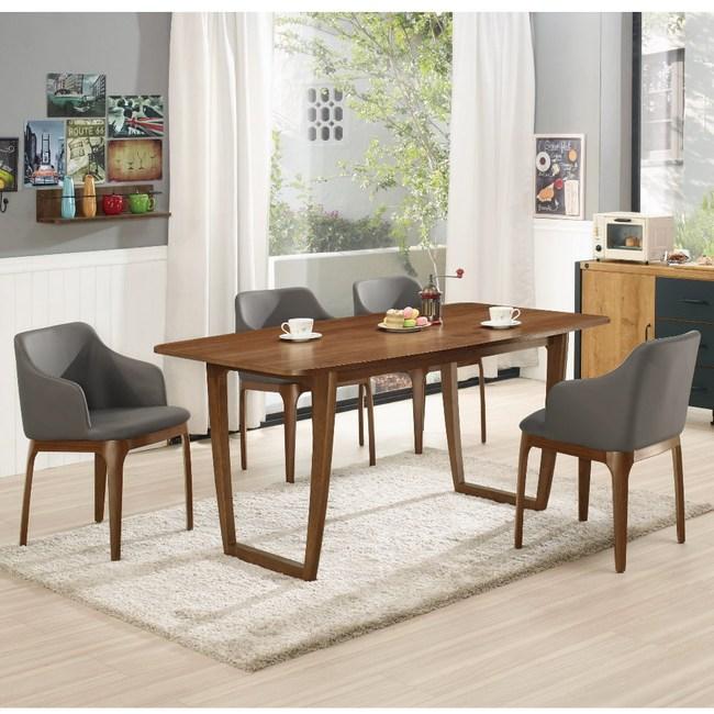 【MUNA 家居】波爾頓5.3尺餐桌(1桌6椅)