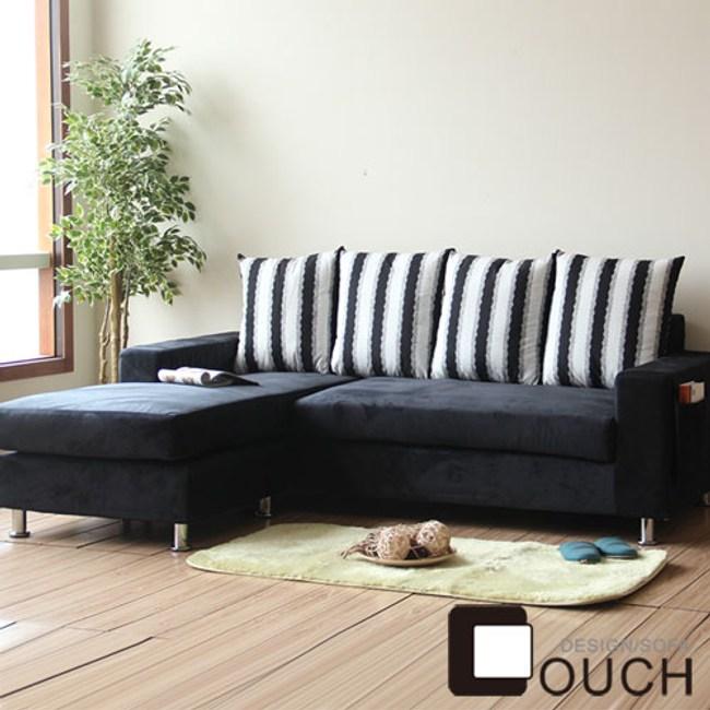 【COUCH】戀戀家居L型獨立筒沙發組黑色