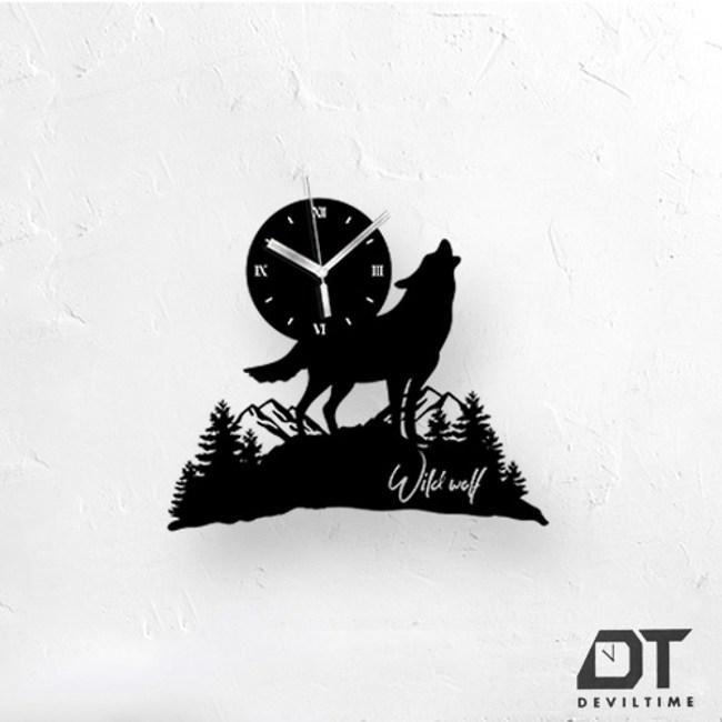DT Time童話木質系列時鐘- 狼嚎