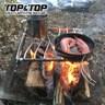 【韓國TOP&TOP】高度可調不銹鋼防風爐架/烤架/登山爐架/爐頭架