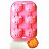 施理康SiliconeZone耐熱粉色小豬造型矽膠瑪芬蛋糕模