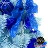 摩達客 台製12尺豪華版冰藍色聖誕樹+銀藍系配件組(不含燈)