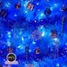 摩達客8尺豪華版晶透藍系聖誕樹銀藍系配件組100燈LED燈藍白光3串