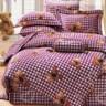 【貝兒居家寢飾生活館】100%萊賽爾天絲兩用被床包組(加大雙人/米格熊)
