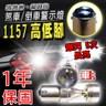 車的LED 勁亮1157 高低腳款 爆閃 6LED 魚眼燈 30w 白光