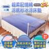 【SANKI 三貴】超柔記憶綿雙面涼感紗冰涼床墊(150*200)藍色