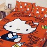 BUTTERFLY-凱蒂貓-搖粒絨刷毛雙人加大床包三件組-我的筆記本