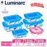 【Luminarc 樂美雅】純淨玻璃保鮮盒6件組