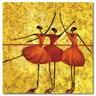 24mama掛畫-單聯式 芭蕾 舞蹈 抽象 人物無框畫-40x40cm