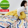 【eyah】台灣製200織精梳棉加大床包新式兩用被五件組-多款任選夢幻彩繪