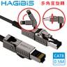 HAGiBiS 90度彎折旋轉CAT8超高速電競級萬兆網路線 0.5M