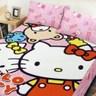 BUTTERFLY-凱蒂貓-搖粒絨刷毛雙人床包三件組- 歡樂同好會
