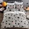 AGAPE 亞加‧貝《耀星閃動》MIT舒柔棉 單人三件式薄被套床包組