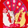 【LASSLEY】日本門簾-花開富貴85X90cm(日式 和風)