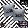 NATURALLY JOJO-摩達客-素色精梳棉亞曼尼灰抱枕(兩入組)