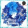 摩達客16吋繽紛閃亮哈莉葉金蔥聖誕花圈(銀藍x麋鹿系)