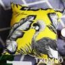 TROMSO奢華義大利棉麻抱枕U183輝煌大孔雀