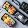 【Homely Zakka】原創北歐風黑色雙層便當盒/分格飯盒/可微波黑色菜單