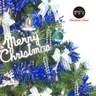 摩達客3尺豪華型裝飾綠色聖誕樹藍銀色系配件不含燈