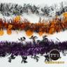 摩達客 萬聖節派對佈置裝飾 錫箔南瓜骷髏巫婆拉花拉條(橘紫黑三入組)
