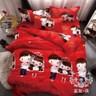 AGAPE 亞加‧貝《兩心情悅》MIT舒柔棉加大6尺三件式薄床包組