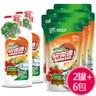 【快潔適】蔬果碗盤洗潔精-天然甜橙(1000g)*2+(補充包800g)*6