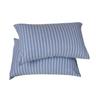 HOLA home自然針織條紋美式枕套2入 經典淺藍