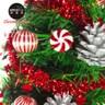摩達客 台灣製1尺聖誕樹薄荷糖果球銀松果系LED20燈彩光插電式