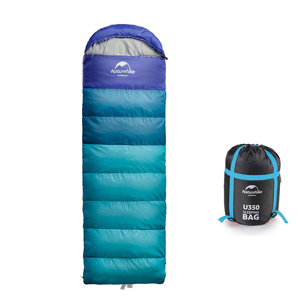 [特價]Naturehike 升級版 U350全開式戶外保暖睡袋 天藍