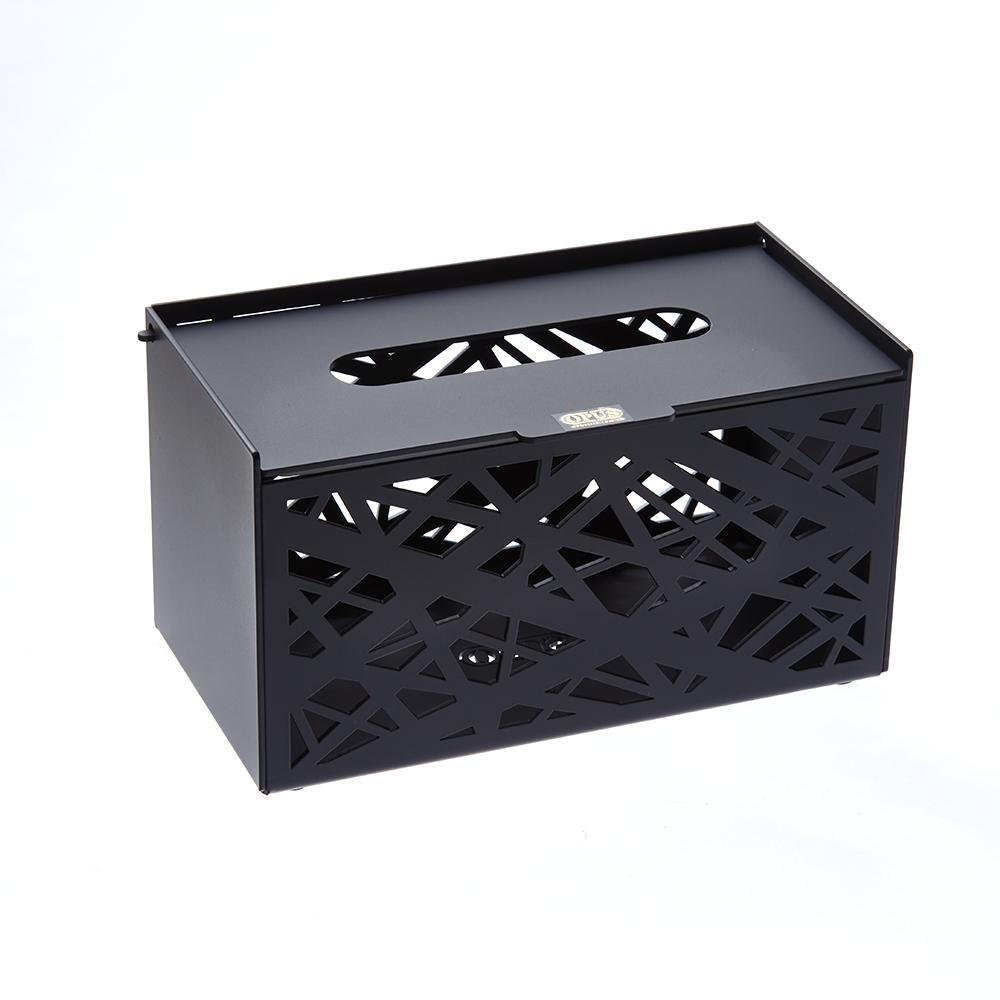 [特價]OPUS 金屬工藝面紙盒/抽取式面紙套/收納盒(方巢 黑)