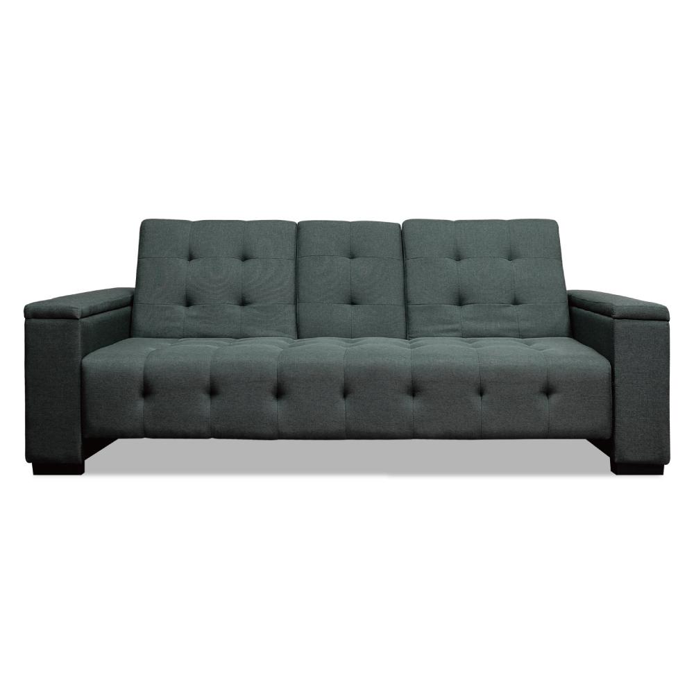 [特價]ASSARI-(深灰色)崔西加厚三段大沙發床
