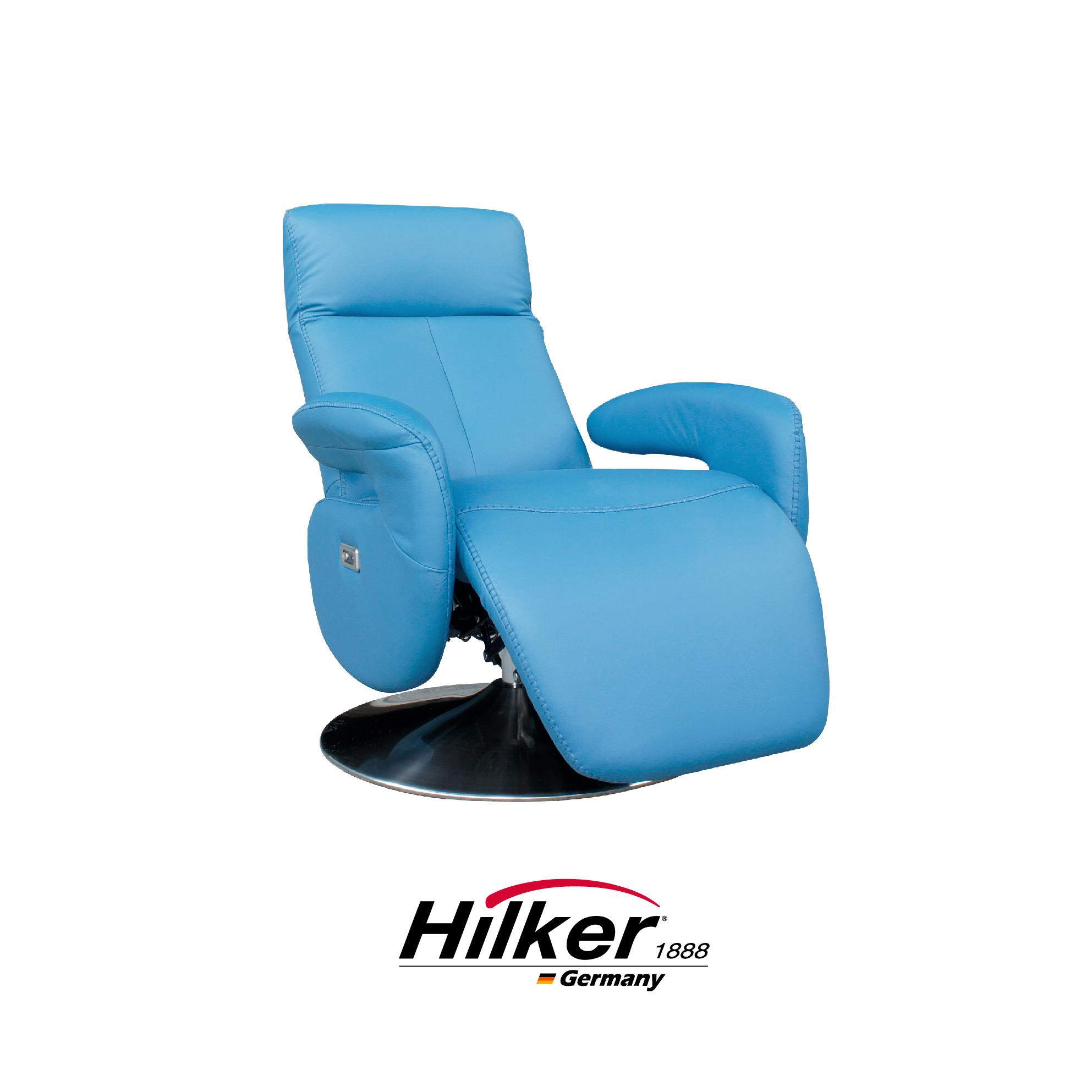 [特價]德國優客Hilker - 貝格海姆全牛皮單人座電動主人椅W107 x D75 x H76