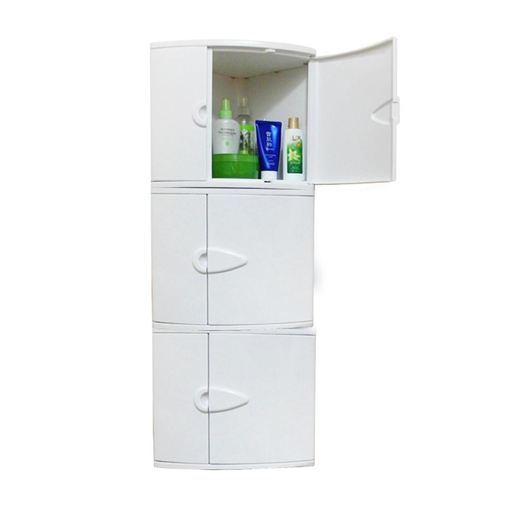[特價]金德恩 台灣製造 二層牆角雙門櫃 /角落櫃