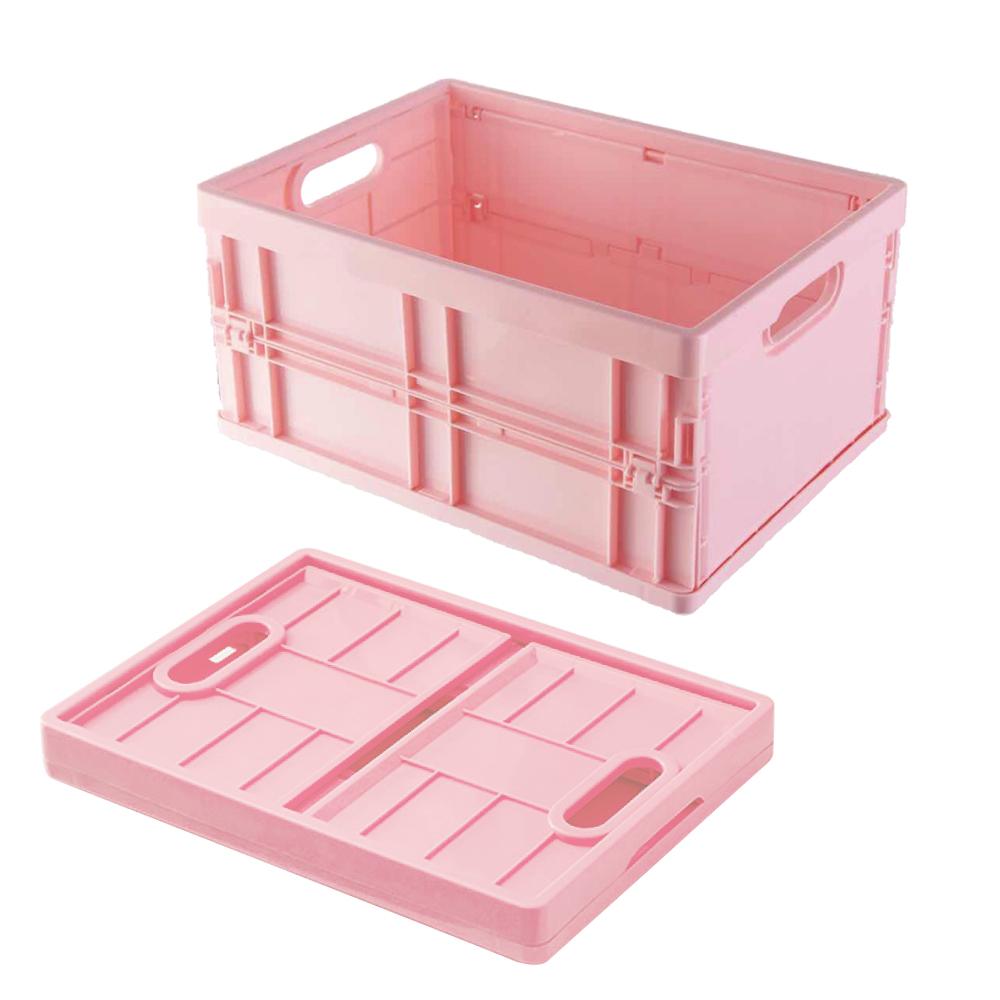 [特價]SoEasy嚴選 日系萬用折疊收納盒收納籃1入(顏色隨機)