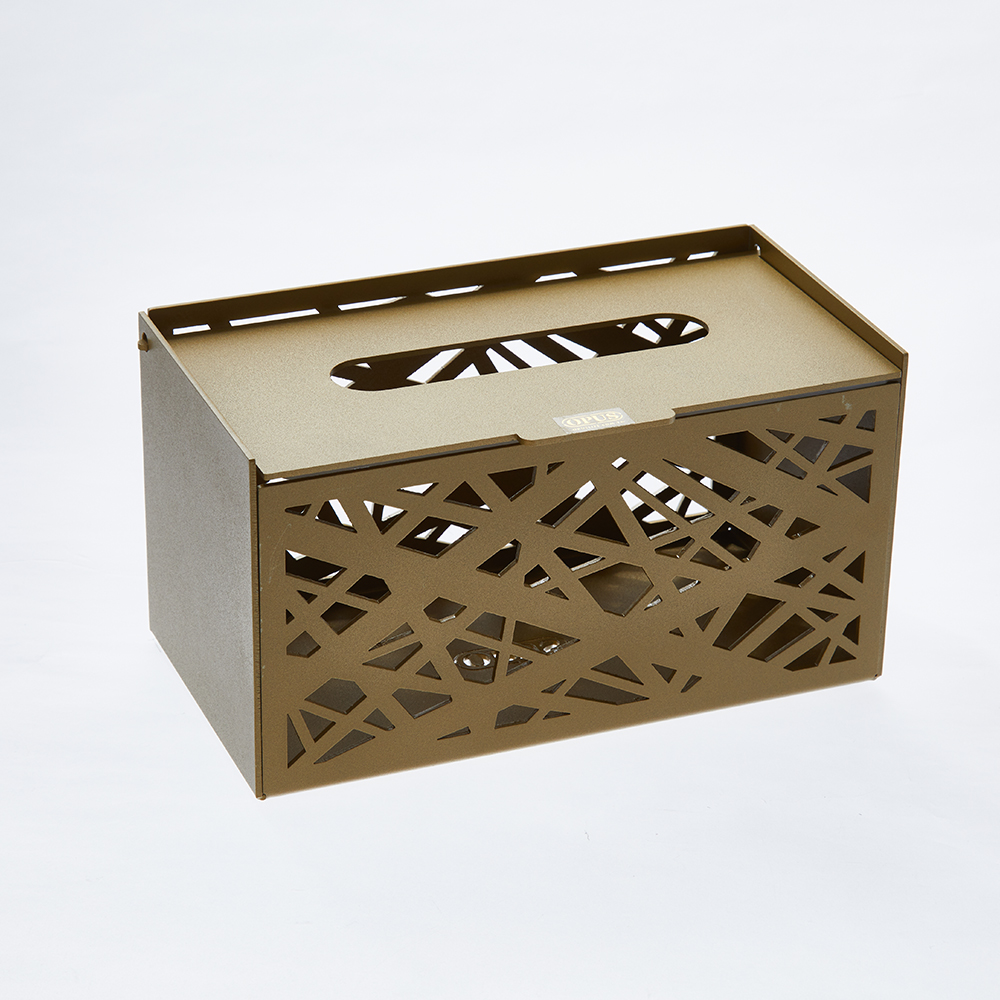 [特價]OPUS 金屬工藝面紙盒/抽取式面紙套/收納盒(方巢 金)