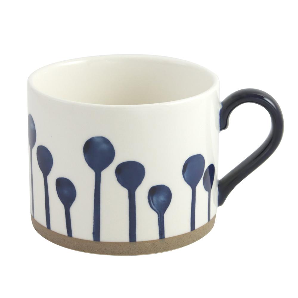 藍黛陶瓷歐蕾杯400ml-小樹