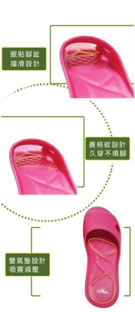 (e鞋院)SUN SPA台灣製 5代專利 適拇指外翻 扁平族 寬厚腳 海豚寬口 EVA拖鞋-任2雙