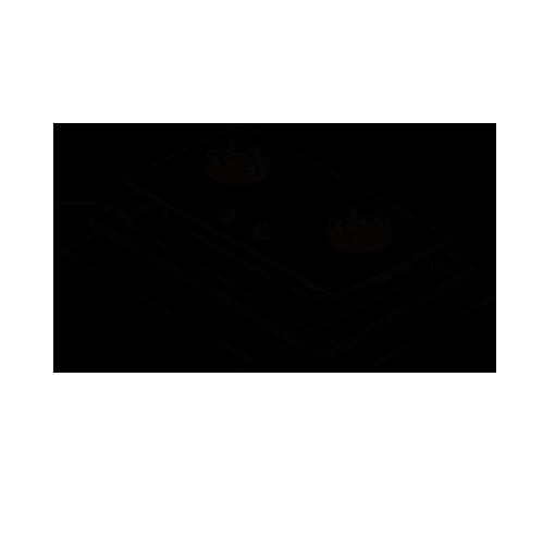 二口玻璃檯面爐-熱水器