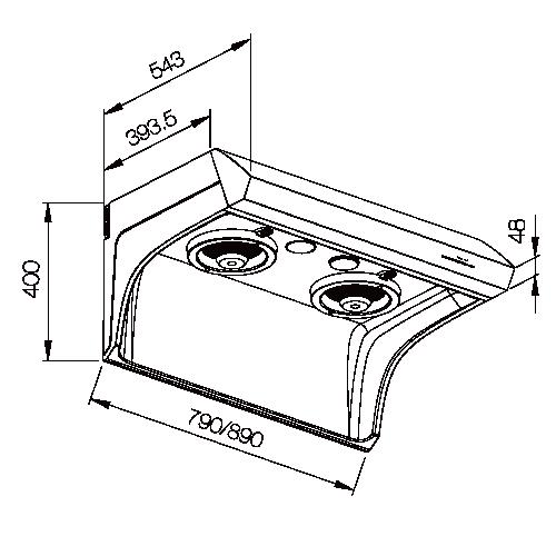 直流變頻斜背式排油煙機-熱水器