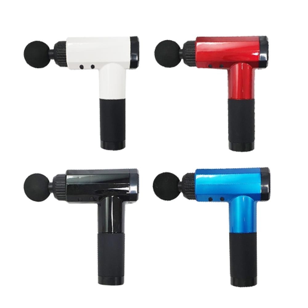[特價]【福川電通】深層筋膜槍/按摩槍(6段式/6種按摩頭)FU-200豔陽紅
