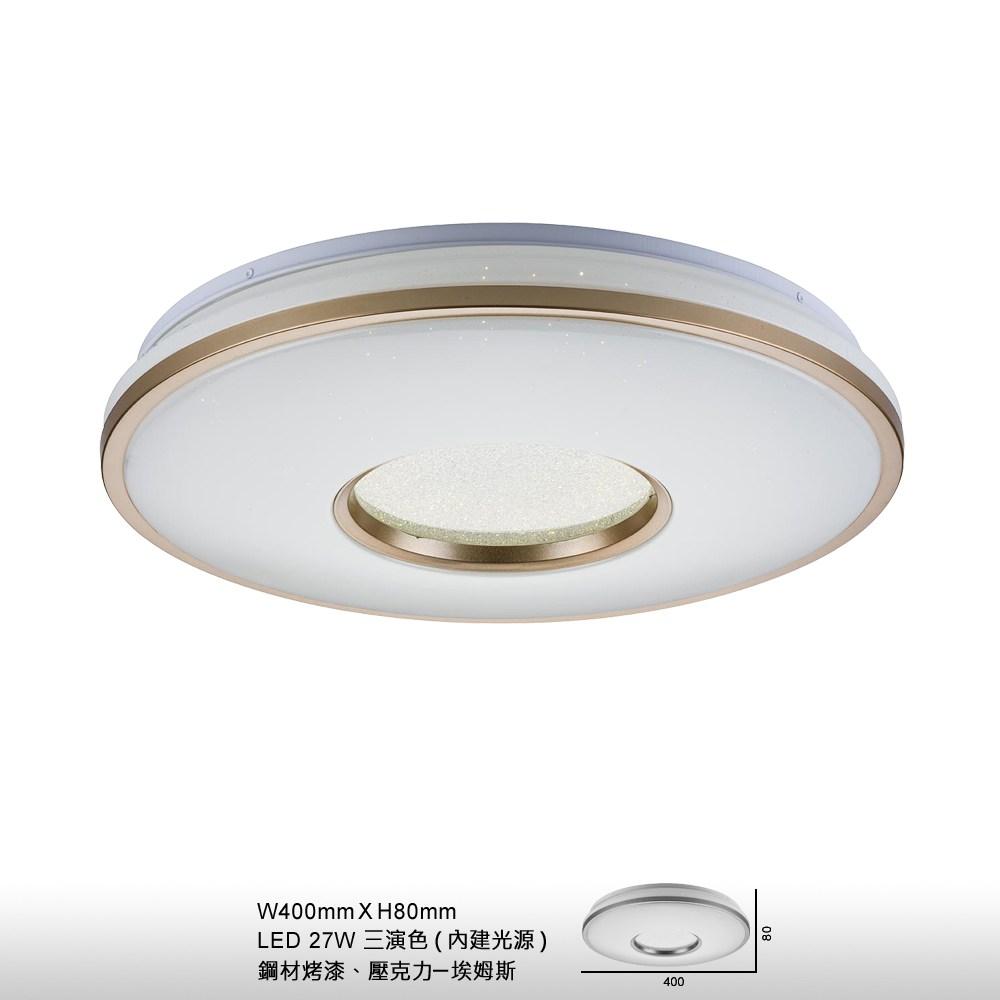【大巨光】現代風27W內建LED吸頂燈-中(BM-21974)