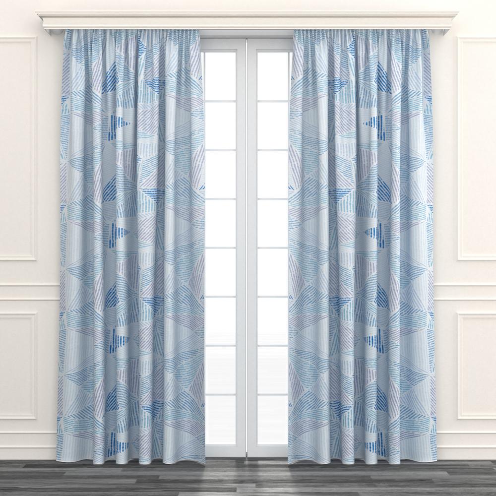 [特價]藍海塗層阻音遮光窗簾 寬290x高240cm
